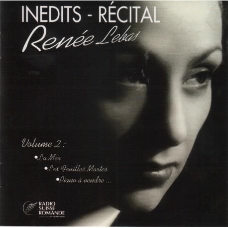 Renée Lebas - Inédits-Récital