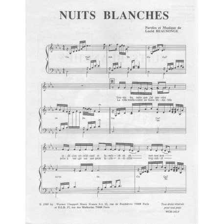 Lucid Beausonge/ Nuits blanches