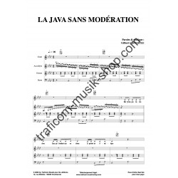 La java sans modération - Partition - Gilbert Laffaille