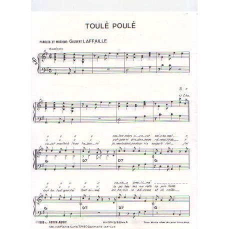 Partition - Toulé Poulé