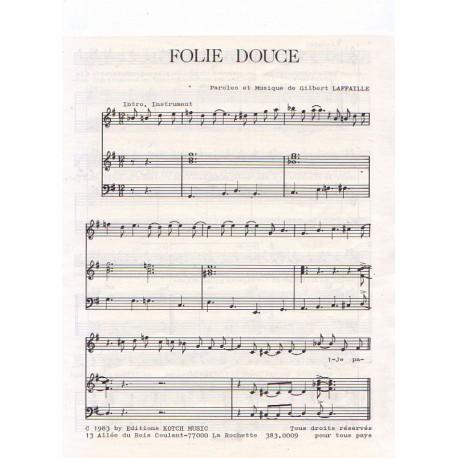 Partition - Folie Douce